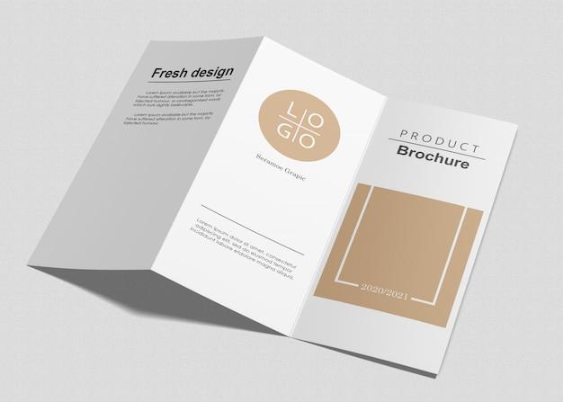 Maquete de três dobras brochura Psd Premium