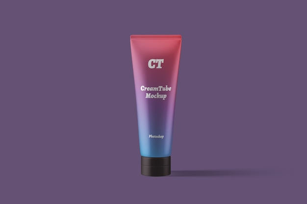 Maquete de tubo de creme cosmético Psd Premium