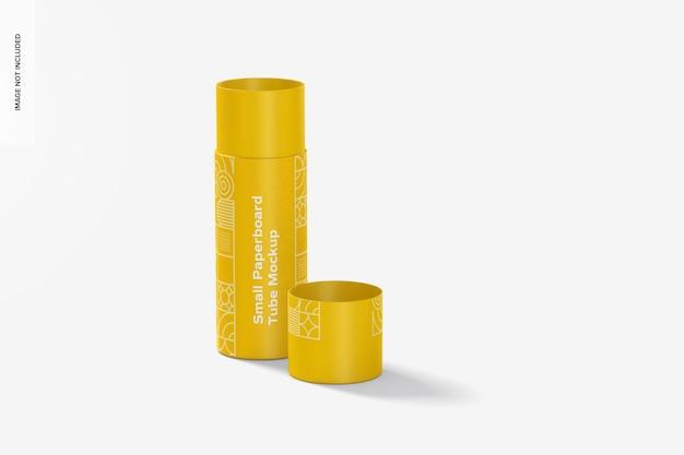 Maquete de tubo de papelão pequeno, aberto Psd Premium