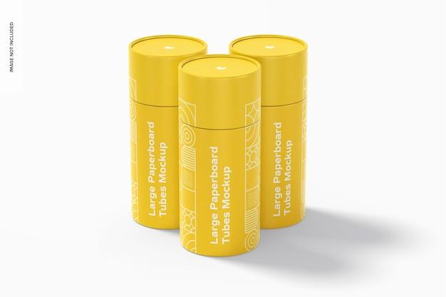 Maquete de tubos de papelão grandes Psd Premium