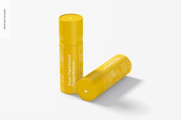 Maquete de tubos de papelão pequeno, fechado Psd Premium