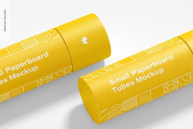 Maquete de tubos de papelão pequeno Psd Premium
