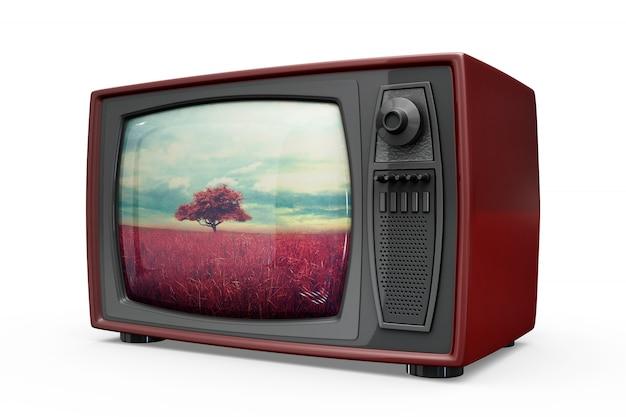 Maquete de tv retrô Psd grátis