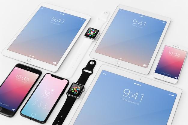 Maquete de vários dispositivos Psd grátis