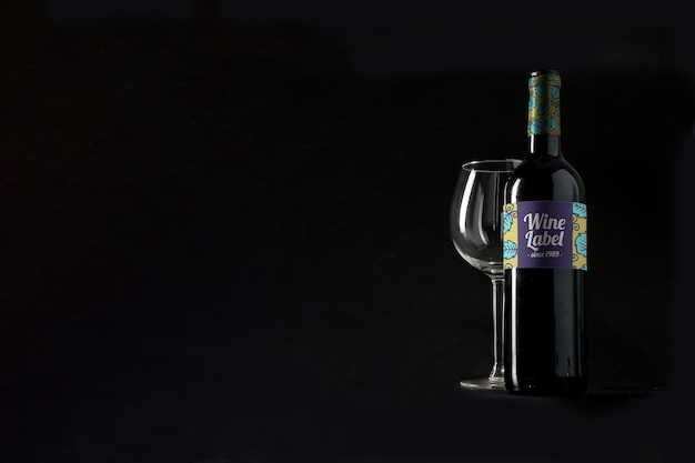 Maquete de vinho com copyspace Psd grátis