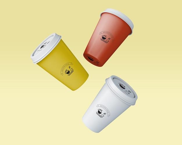 Maquete de xícara de café de papel Psd grátis