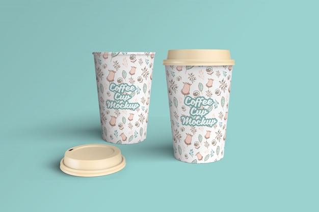 Maquete de xícara de café realista Psd Premium