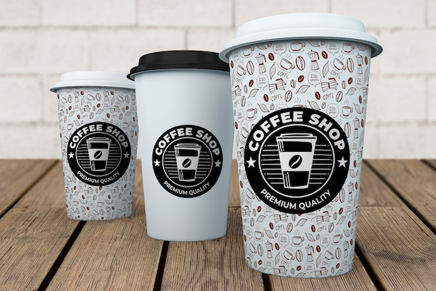 Maquete de xícara de café Psd grátis