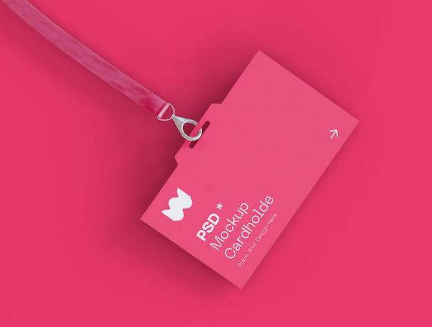 Maquete do cartão de identidade Psd Premium
