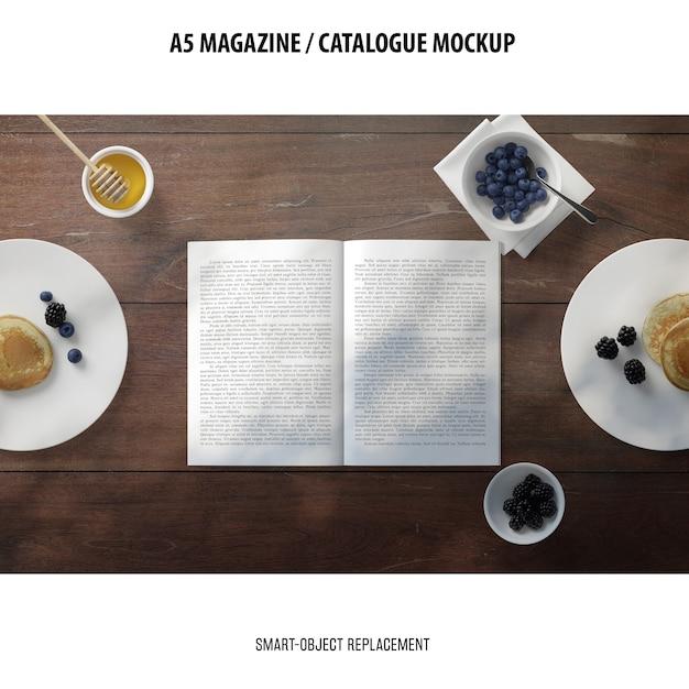 Maquete do catálogo da revista a5 Psd grátis