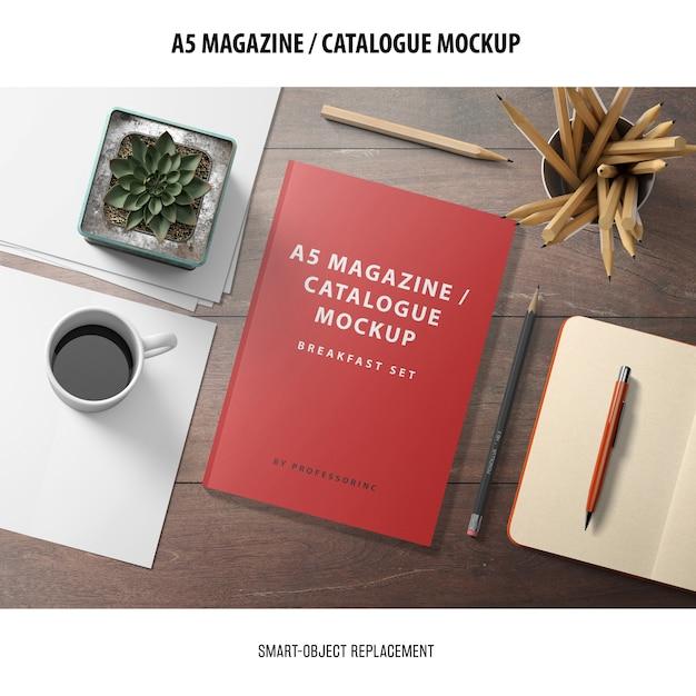 Maquete do catálogo de revistas Psd grátis
