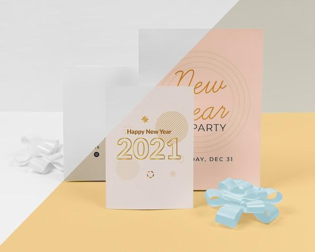 Maquete do conceito de ano novo Psd Premium