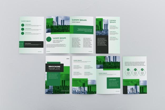 Maquete do conceito de brochura Psd grátis