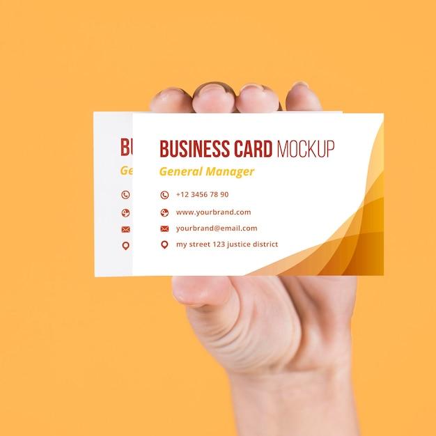 Maquete do conceito de cartão de visita Psd grátis