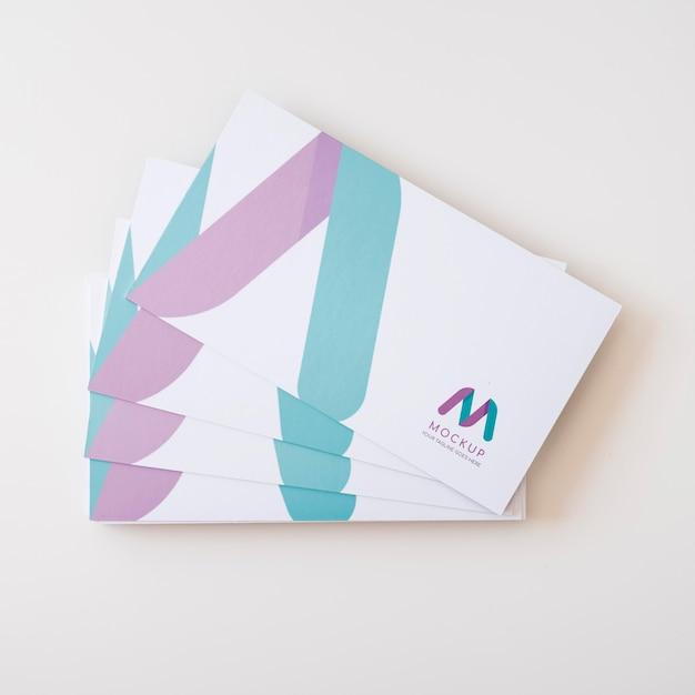 Maquete do conceito de cartão de visita Psd Premium