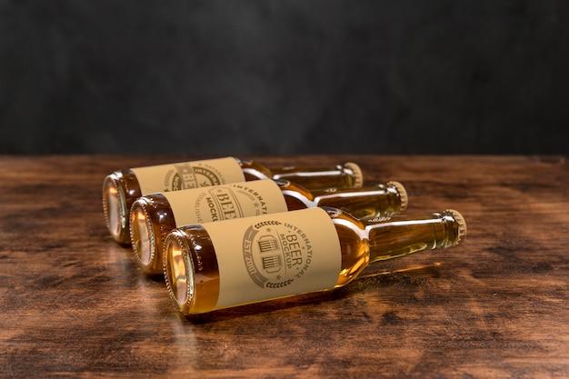 Maquete do conceito de cerveja artesanal Psd grátis