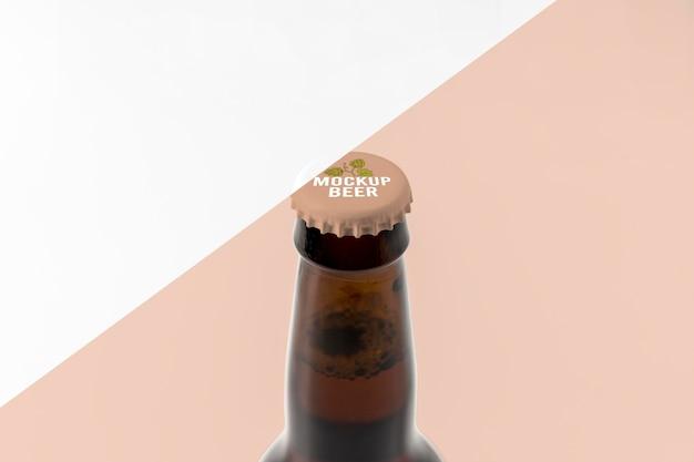 Maquete do conceito de cerveja artesanal Psd Premium