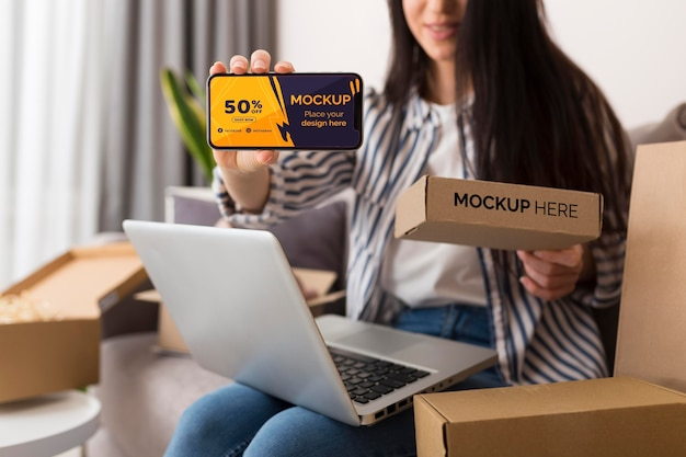 Maquete do conceito de cyber monday Psd Premium