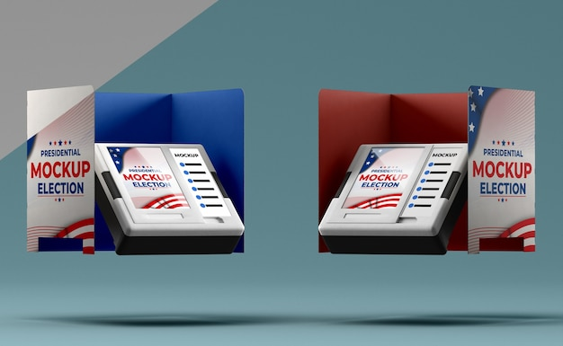 Maquete do conceito de eleições americanas Psd grátis