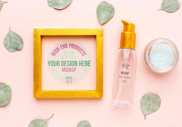 Maquete do conceito de higiene e beleza Psd Premium