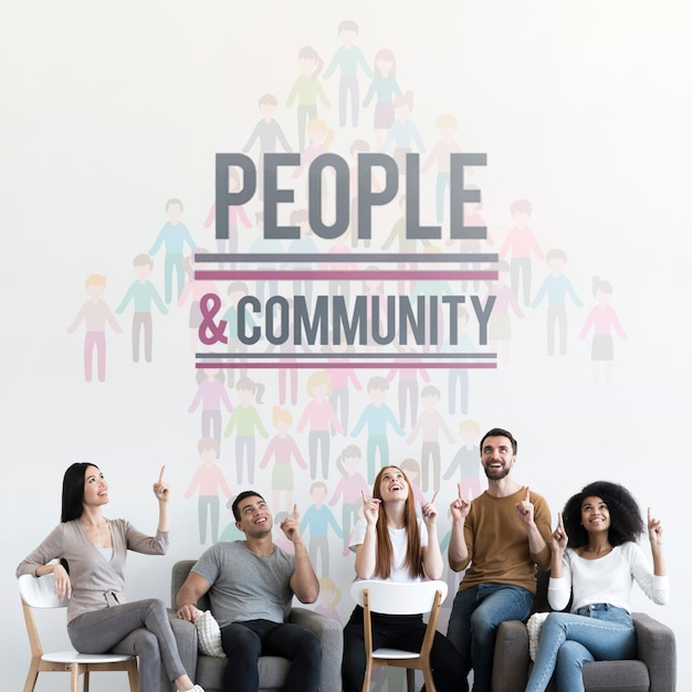 Maquete do conceito étnico comunitário Psd grátis