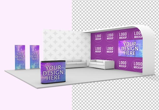 Maquete do estande da exposição da feira isolada Psd Premium