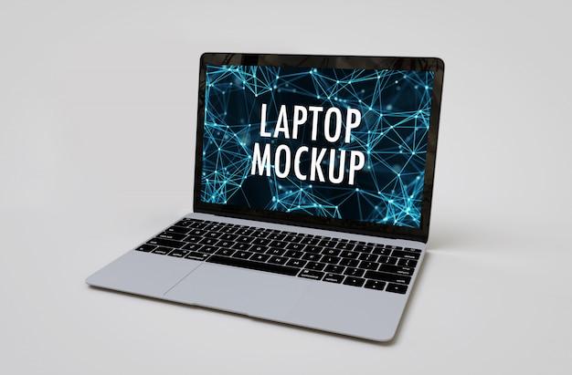 Maquete do laptop realista Psd Premium