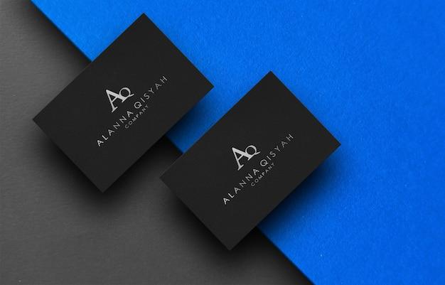 Maquete do logotipo 3d em papel Psd Premium