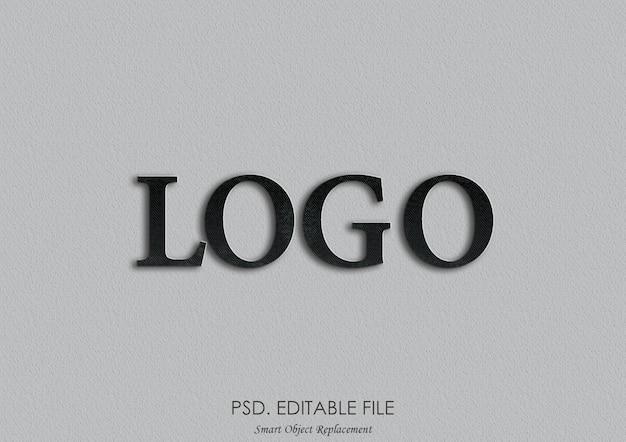 Maquete do logotipo 3d Psd Premium