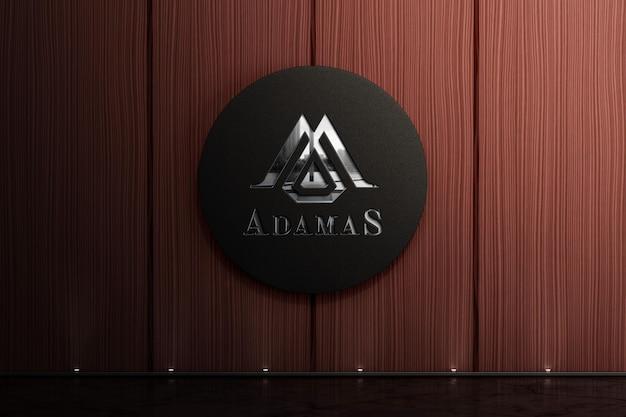 Maquete do logotipo corporativo na parede de madeira Psd Premium