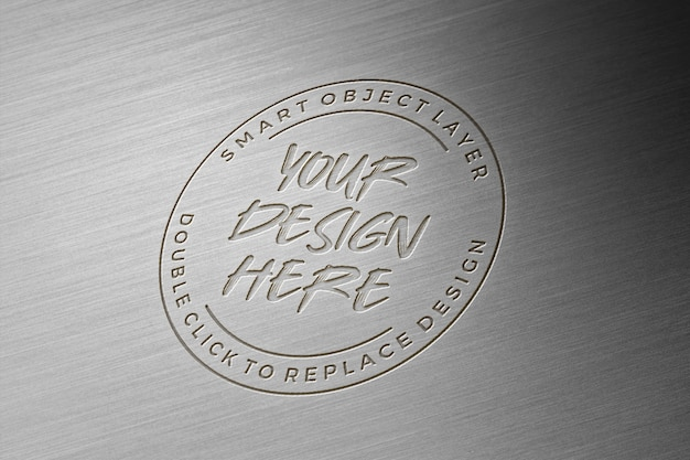 Maquete do logotipo de metal 3d Psd Premium