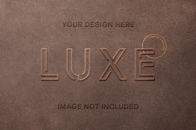 Maquete do logotipo do selo de couro Psd Premium