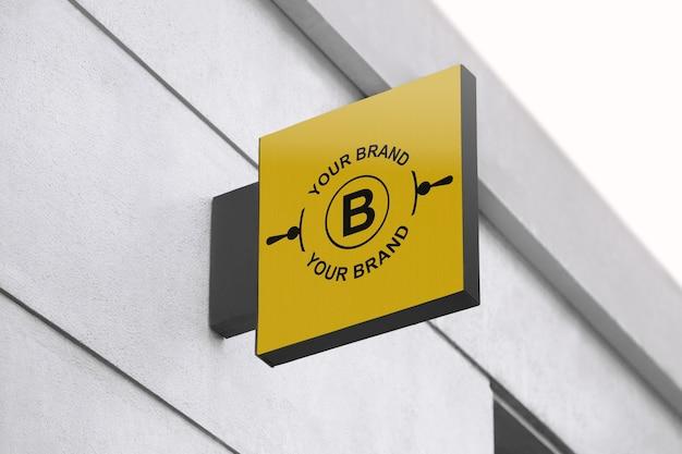 Maquete do logotipo na fachada ou na montra Psd Premium