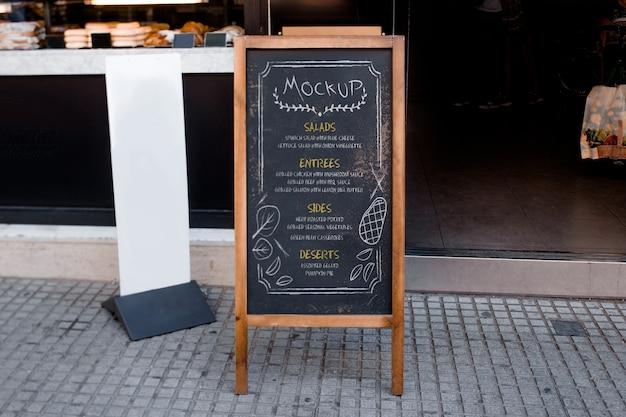 Maquete do menu do restaurante Psd grátis