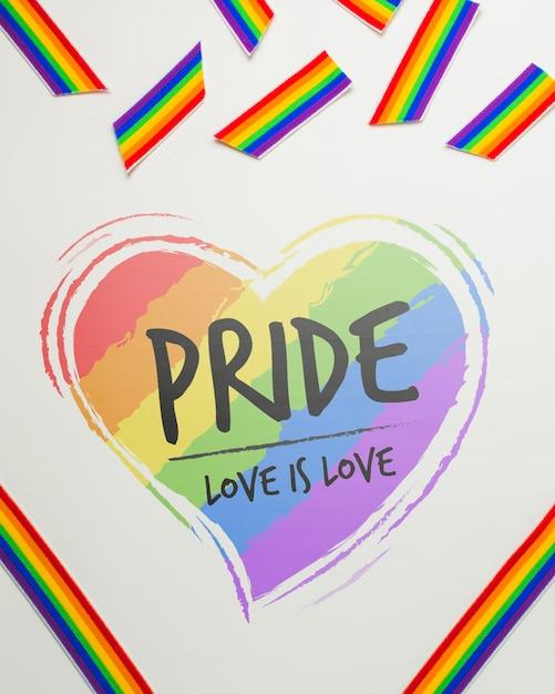 Maquete do orgulho gay Psd grátis