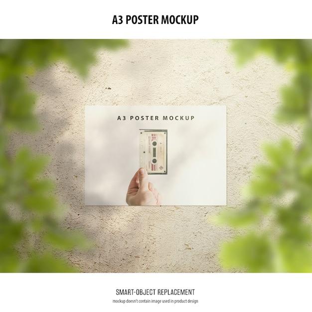 Maquete do poster a3 Psd grátis
