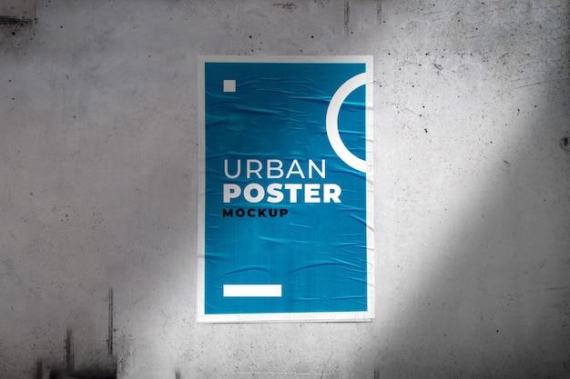 Maquete do pôster urbano Psd Premium