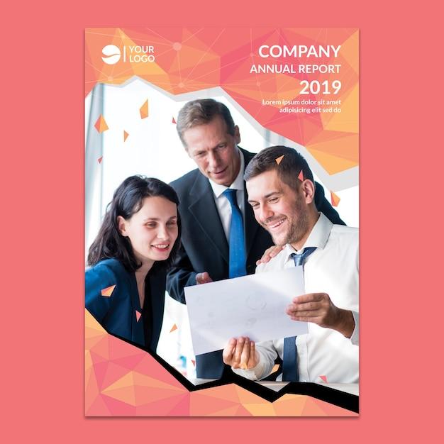 Maquete do relatório anual corporativo Psd grátis