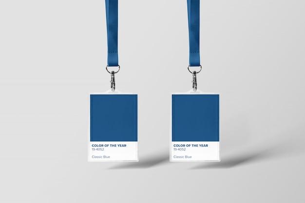 Maquete do titular do cartão de identificação Psd Premium