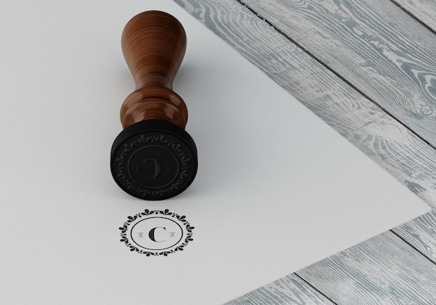 Maquete elegante de carimbo ou crachá Psd grátis