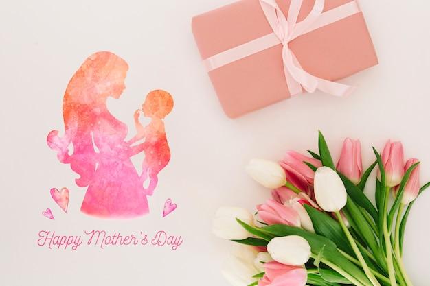 Maquete floral do dia das mães Psd grátis