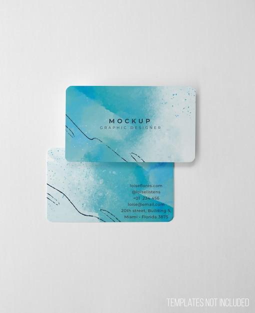 Maquete limpa e elegante de cartões de visita Psd grátis