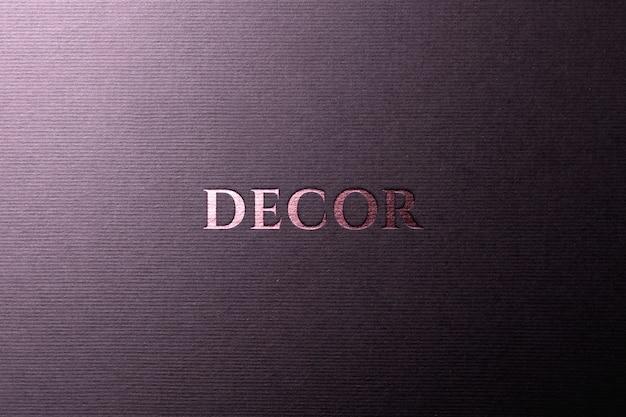 Maquete logo papel rosa ouro Psd Premium