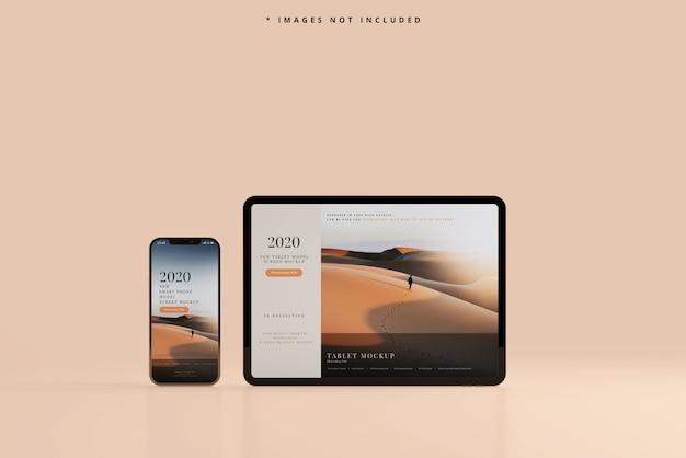 Maquete para smartphone e tablet Psd grátis