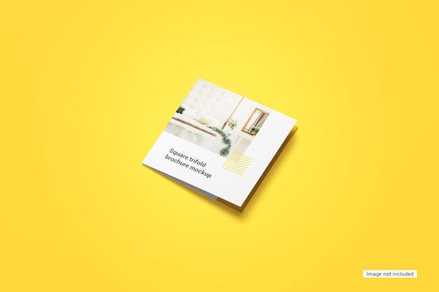 Maquete quadrada de folheto com três dobras Psd grátis