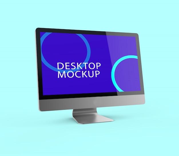 Maquete realista da tela da área de trabalho Psd Premium