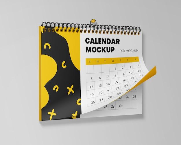 Maquete realista de calendário suspenso Psd Premium