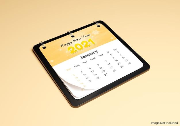 Maquete realista de nota de calendário Psd Premium
