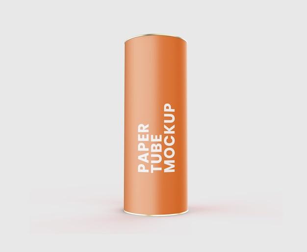 Maquete realista de tubo de papel Psd Premium