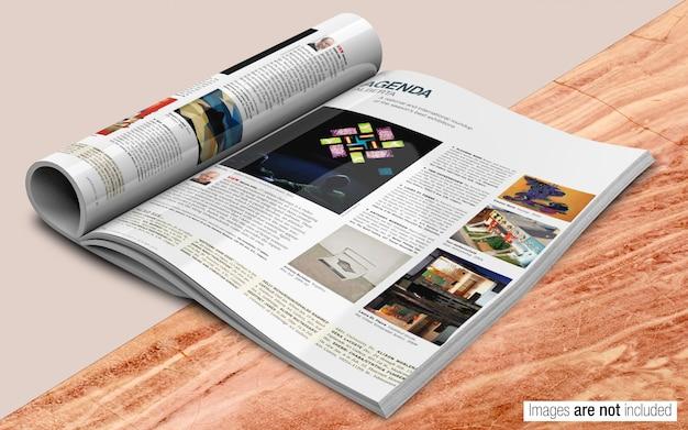 Maquete revista psd Psd Premium